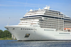 Velsen, the Netherlands, July 7th, 2014 : MSC Magnifica Royalty Free Stock Images