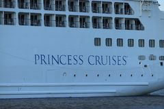 Velsen, The Netherlands - July 17th 2018: Pacific Princess operated by Princess Cruises and P&O Cruises Australia. Velsen, The Netherlands - July 17th 2018 royalty free stock images