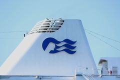 Velsen, The Netherlands - July 17th 2018: Pacific Princess operated by Princess Cruises and P&O Cruises Australia. Velsen, The Netherlands - July 17th 2018 royalty free stock photography