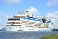 Velsen, the Netherlands -June 22nd, 2014: Aida Stella on North S Stock Image