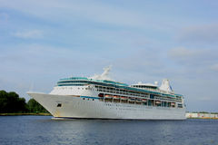 Velsen, The Netherlands - June 3rd 2017: Vision of the Seas, Royal Caribbean International. On North Sea Channel towards North Sea Royalty Free Stock Photos