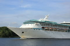 Velsen, The Netherlands - June 3rd 2017: Vision of the Seas, Royal Caribbean International. On North Sea Channel towards North Sea Stock Photos