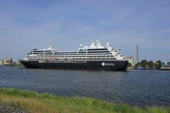 Velsen, The Netherlands - June 21st 2017: Azamara Journey - Azamara Club Cruises Royalty Free Stock Photography