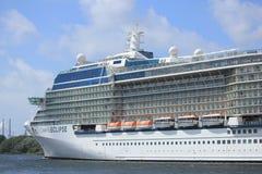 Velsen, The Netherlands - June 9th 2017: Celebrity Eclipse - Celebrity Cruises Royalty Free Stock Photos