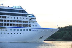 Velsen, The Netherlands - June 15th 2017: Nautica - Oceania Cruises Royalty Free Stock Images