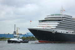 Velsen, The Netherlands - June 7th 2017: Queen Victoria, Cunard Stock Images