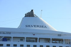 Velsen, The Netherlands - June 18th 2017: Silver Whisper- Silversea Cruises Stock Photos