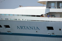 Velsen, the Netherlands - May, 22nd 2017: Artania Phoenix Reisen Royalty Free Stock Photo