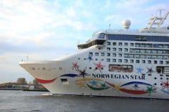 Velsen, The Netherlands - May 9, 2015: Norwegian Star Royalty Free Stock Image