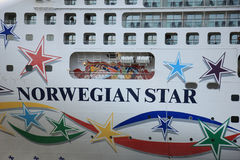 Velsen, The Netherlands - May 9, 2015: Norwegian Star Detail Royalty Free Stock Images