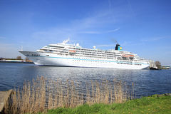 Velsen, the Netherlands - May 6th 2016:  MS Amadea Cruise ship Royalty Free Stock Photos