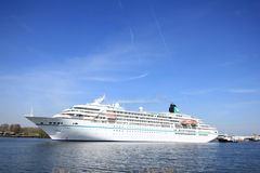 Velsen, the Netherlands - May 6th 2016:  MS Amadea Cruise ship. Velsen, the Netherlands - May, 6th 2016: MS Amadea in North Sea Canal. Amadea is a cruise ship Royalty Free Stock Photos
