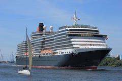 Velsen, Paesi Bassi - 5 giugno 2017: Regina Victoria, Cunard Fotografie Stock