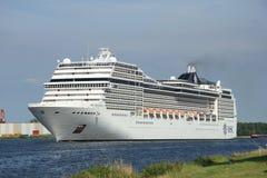 Velsen, Paesi Bassi, il 7 luglio 2014: MSC Magnifica Fotografie Stock