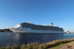 Velsen, Pays-Bas - juillet, 2018 3ème Costa Mediterranea Photos stock