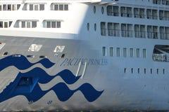 Velsen, Pays-Bas - 17 juillet 2018 : La princesse Pacifique a fonctionné par Australie de princesse Cruises et de croisières de P images libres de droits