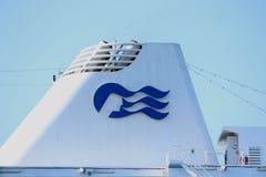 Velsen, Pays-Bas - 17 juillet 2018 : La princesse Pacifique a fonctionné par Australie de princesse Cruises et de croisières de P photographie stock libre de droits