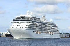 Velsen, Pays-Bas - 16 juin 2017 : Explorateur de sept mers - Regent Cruises image libre de droits
