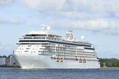 Velsen, Pays-Bas - 16 juin 2017 : Explorateur de sept mers - Regent Cruises image stock