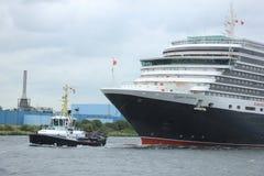 Velsen, Pays-Bas - 7 juin 2017 : La Reine Victoria, Cunard Photo stock