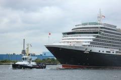 Velsen, Pays-Bas - 7 juin 2017 : La Reine Victoria, Cunard Images stock