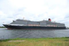 Velsen, Pays-Bas - 7 juin 2017 : La Reine Victoria, Cunard Image stock