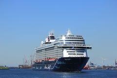 Velsen, Pays-Bas - 7 mai 2018 : Mein Schiff 1 TUI Cruises Maiden Voyage photo stock