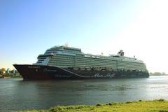 Velsen, Pays-Bas - 8 mai 2018 : Mein Schiff 1 TUI Cruises Maiden Voyage photo libre de droits