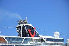 Velsen, Pays-Bas - 7 mai 2018 : Mein Schiff 1 TUI Cruises Maiden Voyage images libres de droits
