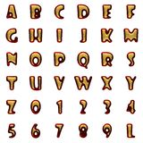 Velvet alphabet with gold on white Royalty Free Stock Image