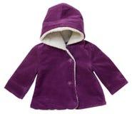Velvet baby outwear coat isolated. Stock Image