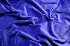 Velvet. Blue velvet background fabric texture Stock Photography
