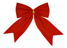 Velvet bow - red Royalty Free Stock Images