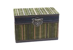 Velvet box with fancy lock Stock Photo