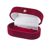 Velvet box for jeweller decorations Royalty Free Stock Photo