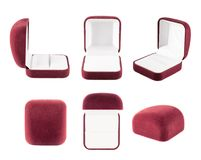 Velvet box for the ring isolated Royalty Free Stock Photos