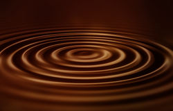 Velvet chocolate ripples Stock Photos