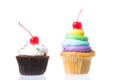 Velvet cupcakes  Royalty Free Stock Images