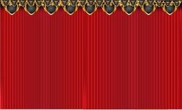 Velvet curtain. Ornamented royal velvet curtain background Stock Photo