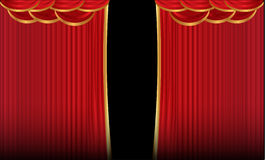 Velvet curtain Royalty Free Stock Photo