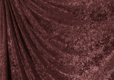Velvet curtain. Royalty Free Stock Photo