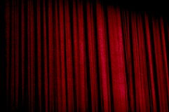 Velvet curtain. Behind the velvet curtain lies all dreams and expectations Stock Photos