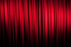 The Velvet Curtain Series. Red velvet stage curtain.  Vignetting added for effect Royalty Free Stock Image