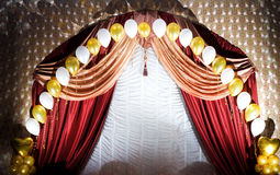 Velvet curtains Stock Photos