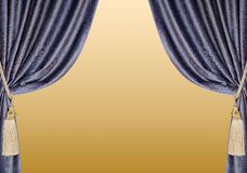 Velvet curtains background Stock Image
