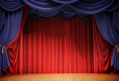 Velvet curtains Stock Image