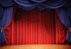 Velvet curtains Stock Image