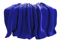 Velvet drape. Illustration of a velvet drape, isolated on a white background. Could be used to represent unveiling of a new product etc vector illustration