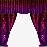 Velvet folded drapery with glittering abstract pattern Stock Images