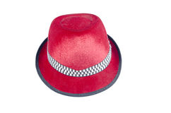 Velvet hat red Stock Image